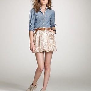 J. CREW Collection Metallic Mini skirt S 4 Gold